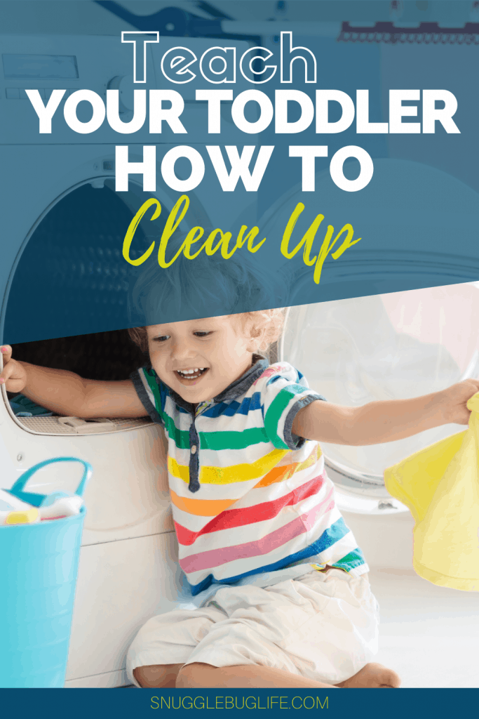 Teach toddler to clean pinterest pin